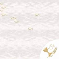Linclass-Serviette KOMMUNION / KONFIRMATION FISCHE 40 x 40 cm
