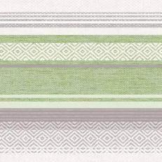 Serviette aus Linclass LAGOS GRAU-GRÜN  40 x 40 cm