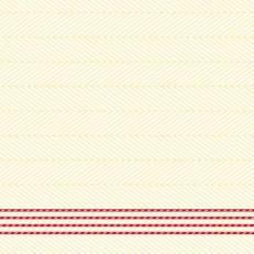Linclass-Serviette LUKAS CREME-DUNKELROT 40 x 40 cm