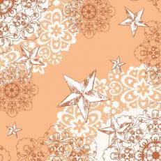 Linclass-Serviette STERNENSCHEIN aprikot-terrakotta 48 x 48 cm; 500 Stück im Karton