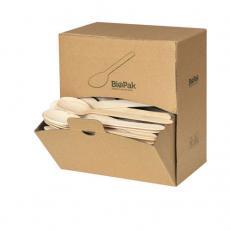 Besteck-Spenderbox BioPak Holz Löffel 160mm