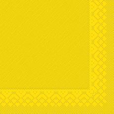 Tissue-Deluxe 40x40 cm; 600 Stück im Karton; Farbe: gelb