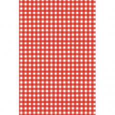 Tischdeckenrolle KARO ROT aus Papier, 120 cm x 25 lfm, 9 Rollen im Karton