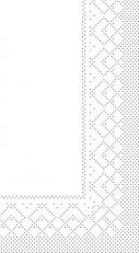 Zellstoff-Serviette weiß 40 x 40 cm; 2-lagig; 1/8 Falz