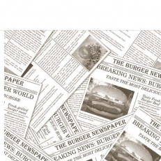 Serviette NAP-TO-GO NEWSPAPER GRAU