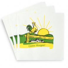 Zellstoff-Serviette 25 x 25 cm; 4000 Stk. im Karton; Typ: Guten Morgen