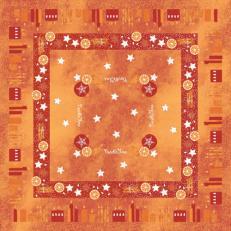 Tischdecken aus Linclass CANDLE TIME ROT 80 x 80 cm