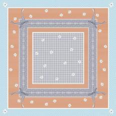 Tischdecken aus Airlaid 80 x 80 cm; Typ: FINN blau; 50 Stück im Karton