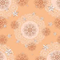 Linclass-Mitteldecken STERNENSCHEIN aprikot-terrakotta 80 x 80 cm; 50 Stück im Karton
