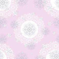 Linclass-Mitteldecken STERNENSCHEIN rose-silber 80 x 80 cm; 50 Stück im Karton