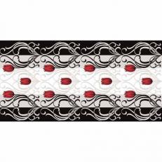 Tischläufer ANNIKA GRAU-SCHWARZ aus Linclass 40 cm x 24 m; 4 Rollen im Karton