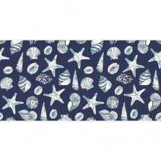 Linclass-Tischläufer BEACH BLAU 40 cm breit