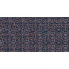 Linclass-Tischläufer CLAUDIO DUNKELBLAU-BRAUN 40 cm breit
