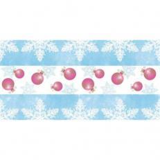 Linclass-Tischläufer COLINE blau-pink 40 cm x 24 m; 4 Rollen im Karton