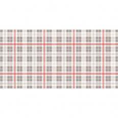 Linclass-Tischläufer FRED GRAU-ROT 40 cm breit