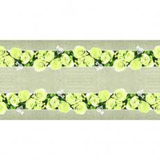 Linclass-Tischläufer LOVELY ROSES GELB 40 cm breit