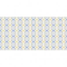 Linclass-Tischläufer LUDO BLAU-GOLD 40 cm breit