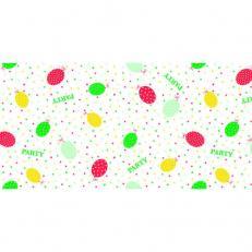 Linclass-Tischläufer PARTY BALLONS ROT-GRÜN 40 cm breit