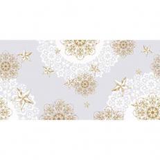 Linclass-Tischläufer STERNENSCHEIN grau-gold 40 cm x 24 m; 4 Rollen im Karton