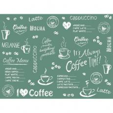 Tischset aus Linclass COFFEE TIME ANTHRAZIT 40 x 30 cm