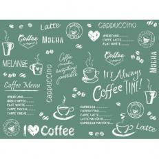 Tischset aus Linclass COFFEE TIME ANTHRAZIT 40 x 30 cm