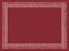 Tischset WEBKANTE BORDEAUX aus Vlies 30 x 40 cm; 1000 Stück im Karton
