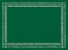 Tischset WEBKANTE GRÜN aus Vlies 30 x 40 cm; 1000 Stück im Karton