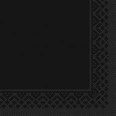 Tissue-Serviette 25x25 cm; 1000 Stück im Karton; Farbe: SCHWARZ