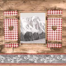 Tissue Serviette ALMBLICK 33 x 33 cm