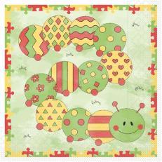 Tissue-Serviette  KLEINE RAUPE 33x33 cm