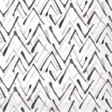 Tissue-Serviette ZACK SCHWARZ-GRAU 33x33 cm; 800 Stück im Karton