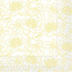 Tissue Serviette HEDDA GELB 40 x 40 cm; 1200 Stück im Karton