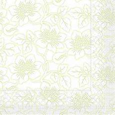 Tissue Serviette HEDDA HELLGRÜN 40 x 40 cm; 1200 Stück im Karton