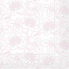 Tissue Serviette HEDDA ROSE 40 x 40 cm; 1200 Stück im Karton