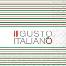 Servietten aus Tissuewatte 3-lagig IL GUSTO ITALIANO 40x40 cm 1/4 Falz