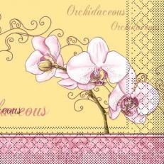 Servietten aus Tissuewatte 3-lagig ORCHIDEE 40x40 cm 1/4 Falz