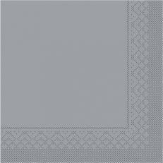 Servietten aus Tissuewatte 3-lagig GRAU 40x40 cm 1/4 Falz