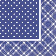 Tissue Serviette ANTONIA BLAU 40 x 40 cm; 1200 Stück im Karton