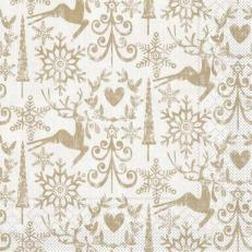 Tissue-Serviette BOB GOLDBRAUN 33 x 33 cm