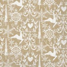 Tissue-Serviette BOB GOLDBRAUN 40 x 40 cm