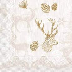 Tissue-Serviette BRUNO braun-gold 40x40 cm; 1200 Stück im Karton