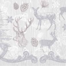 Tissue-Serviette BRUNO grau-silber 33x33 cm; 800 Stück im Karton