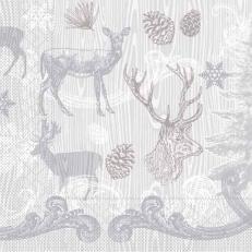 Tissue-Serviette BRUNO grau-silber 40x40 cm; 1200 Stück im Karton