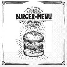 Tissue-Serviette BURGER MENU 33 x 33 cm