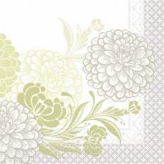 Tissue-Serviette CLARISSA GRÜN 33 x 33 cm