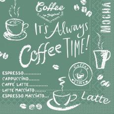 Tissue-Serviette COFFEE TIME ANTHRAZIT 25 x 25 cm