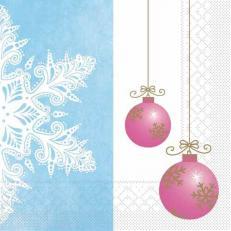Tissue-Serviette COLINE blau-pink 33x33 cm; 800 Stück im Karton