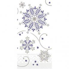 Tissue-Serviette CRISTAL BLAU-SILBER 33x33 cm 1/8-Falz; 800 Stück im Karton