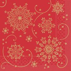 Tissue-Serviette CRISTAL ROT 33x33 cm; 800 Stück im Karton
