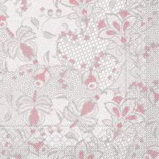 Tissue-Serviette DION GRAU-ROSA 40 x 40 cm
